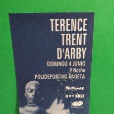 Billets de concerts: TERENCE TRENT DARBY ANTIGUA ENTRADA. Lote 267501804