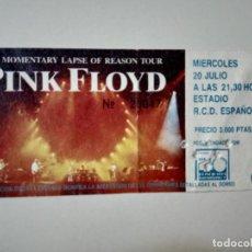 Bilhetes de Concertos: PINK FLOYD - ENTRADA CONCIERTO BARCELONA 1988 - TICKET.. Lote 267609954
