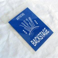 Entradas de Conciertos: PASE BACKSTAGE ARTISTAS DREAM PRODUCCIONES. Lote 268129094