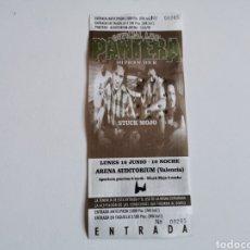 Entradas de Conciertos: ENTRADA DEL CONCIERTO DE PANTERA EN VALENCIA 1998. Lote 268961524