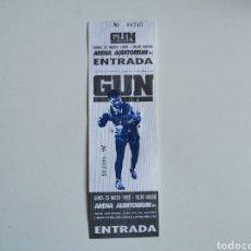 Entradas de Conciertos: ENTRADA CONCIERTO GUN VALENCIA 1992. Lote 268963414