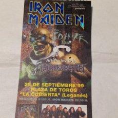 Bilhetes de Concertos: ENTRADA CONCIERTO IRON MAIDEN Y MEGADETH. THE ED HUNTER TOUR. MADRID 26 SEPTIEMBRE 1999. LEGANÉS.. Lote 269135413