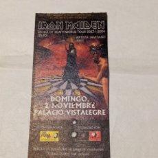 Bilhetes de Concertos: ENTRADA CONCIERTO IRON MAIDEN. DANCE OF DEATH WORLD TOUR. MADRID 2 NOVIEMBRE 2003 PALACIO VISTALEGRE. Lote 269136268