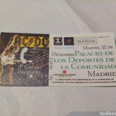Bilhetes de Concertos: ENTRADA CONCIERTO ACDC. 12 DE DICIEMBRE 2000. PALACIO DE LOS DEPORTES COMUNIDAD DE MADRID. AD/DC. Lote 269269658