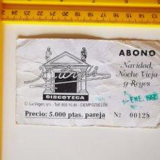 Entradas de Conciertos: ANTIGUO FLYER ENTRADA DISCOTECA KUROIS CIEMPOZUELOS NAVIDADES 1990 MADRID. Lote 269623118