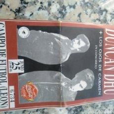 Biglietti di Concerti: ENTRADA ORIGINAL DEL CONCIERTO DE DUNCAN DHU EN LEÓN N 1990. Lote 274010628