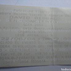 Entradas de Conciertos: ENTRADA DEL CONCIERTO DE DAVID BISBAL DE LA GIRA DEL 2004 EN LEON. Lote 274410713