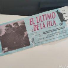 Bilhetes de Concertos: ENTRADA EL ÚLTIMO DE LA FILA. Lote 275976163
