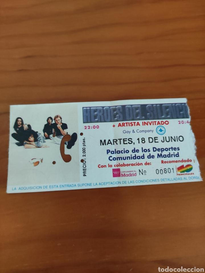 ENTRADA CONCIERTO HÉROES DEL SILENCIO. PALACIO DEPORTES MADRID (Música - Entradas)