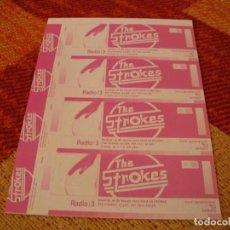 Entradas de Conciertos: THE STROKES 4 ENTRADAS PRUEBAS DEL PROMOTOR SIN NUMERAR MADRID 2002 PROMOTER PROOFS. Lote 277597248