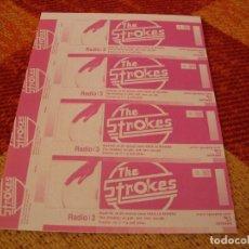 Entradas de Conciertos: THE STROKES 4 ENTRADAS PRUEBAS DEL PROMOTOR SIN NUMERAR MADRID 2002 PROMOTER PROOFS. Lote 277597293