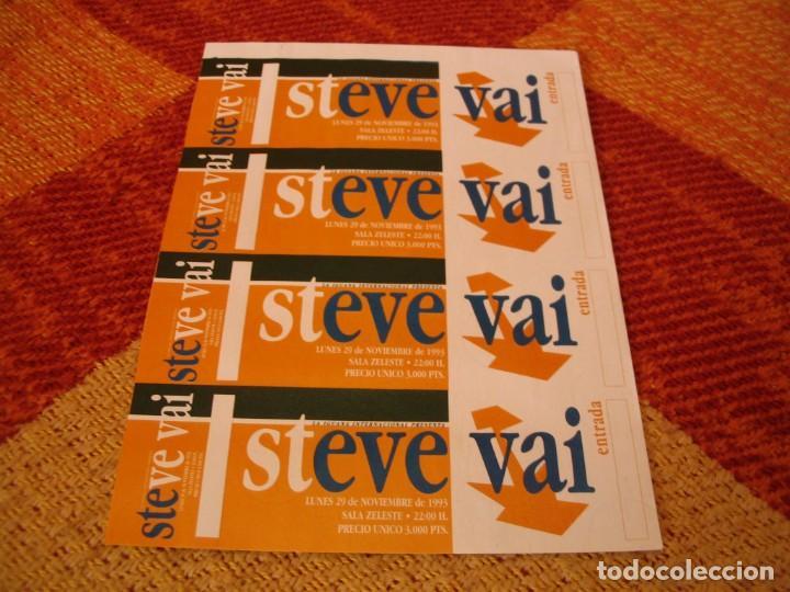 STEVE VAI 4 ENTRADAS PRUEBAS DEL PROMOTOR SIN NUMERAR BARCELONA 1993 PROMOTER PROOFS (Música - Entradas)