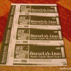 Entradas de Conciertos: STEREOLAB + LUNA 4 ENTRADAS PRUEBAS DEL PROMOTOR SIN NUMERAR BARCELONA 1999 PROMOTER PROOFS. Lote 277598393