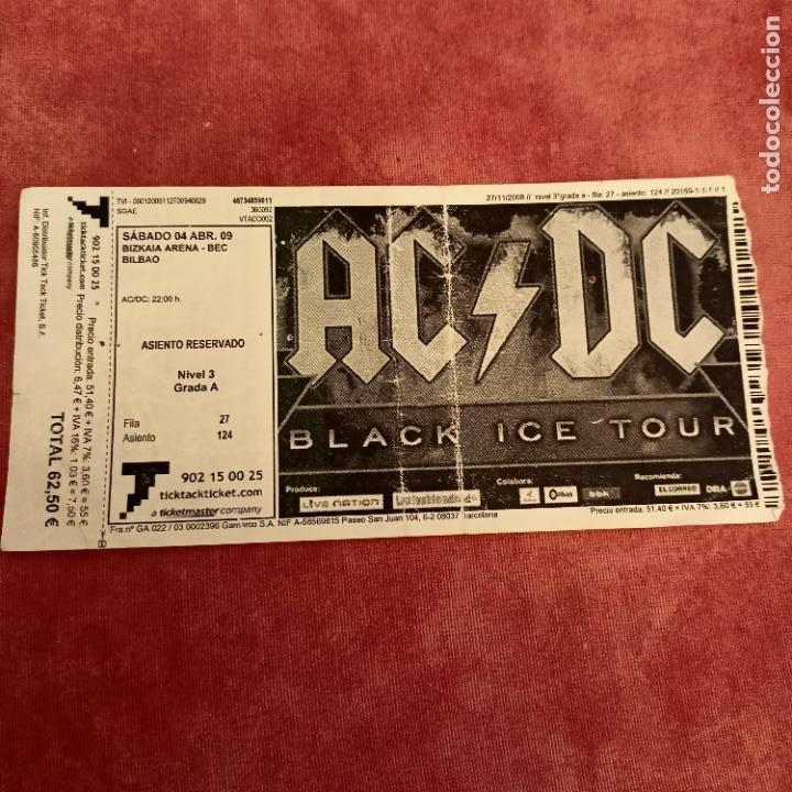 ENTRADA AC/DC, BEC 2009 (Música - Entradas)