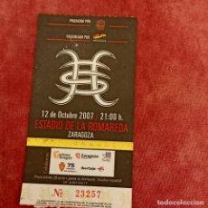Entradas de Conciertos: HEROES DEL SILENCIO ENTRADA DE CONCIERTO ZARAGOZA 12 DE OCTUBRE 2007 (COLOR ROJO). Lote 277605098