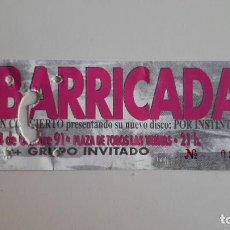 Entradas de Conciertos: BARRICADA POR INSTINTO GIRA 1991 ENTRADA CONCIERTO NUEVA ORIGINAL LAS VENTAS MADRID. Lote 278443668