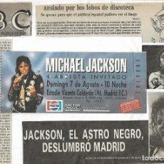 Biglietti di Concerti: 806- ENTRADA ORIGINAL DEL CONCIERTO DE MICHAEL JACKSON MADRID VICENTE CALDERON 7 AGOSTO 1988. Lote 278503898