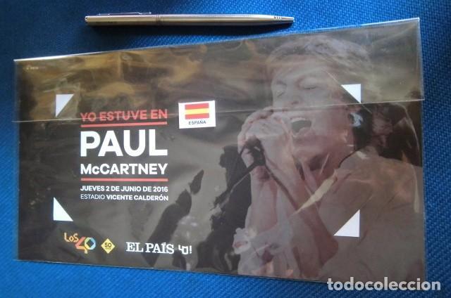 BEATLES PAUL MCCARTNEY SOUVENIR CONCIERTO MADRID JUNIO 2016 GIRA MUNDIAL ENTRADA NUEVO (Música - Entradas)