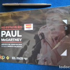 Entradas de Conciertos: BEATLES PAUL MCCARTNEY SOUVENIR CONCIERTO MADRID JUNIO 2016 GIRA MUNDIAL ENTRADA NUEVO. Lote 279412278