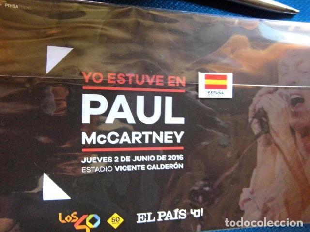 Entradas de Conciertos: BEATLES PAUL McCARTNEY SOUVENIR CONCIERTO MADRID JUNIO 2016 GIRA MUNDIAL ENTRADA NUEVO - Foto 5 - 279412278