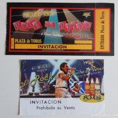 Entradas de Conciertos: 2 X ENTRADA CONCIERTO VINTAGE DE MIGUEL RIOS CELEBRADOS EN 1983 Y 1985 LOTE. Lote 279553298
