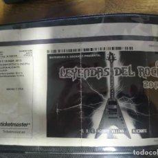 Billets de concerts: LEYENDAS DEL ROCK (2013). Lote 285044448