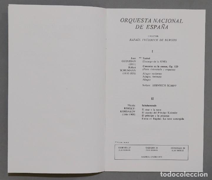 Entradas de Conciertos: PROGRAMA. TEATRO REAL. ORQUESTA NACIONAL. GUINJOAN. SCHUMANN. RINSKY-KORSAKOV - Foto 2 - 285486693