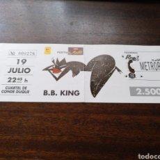 Billets de concerts: ENTRADA CONCIERTO B. B. KING MADRID 19 DE JULIO DE 1992. Lote 285998008