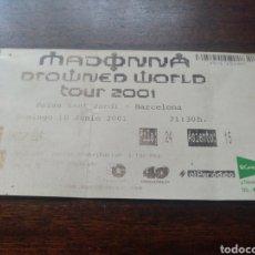Billets de concerts: ENTRADA CONCIERTO MADONNA BARCELONA 10 DE JUNIO DE 2001. Lote 286164118