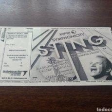 Billets de concerts: ENTRADA CONCIERTO STING MADRID 30 DE OCTUBRE DE 2010. Lote 286172128