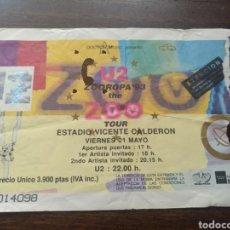 Billets de concerts: ENTRADA CONCIERTO U2 MADRID 21 DE MAYO DE 1993. Lote 286177058