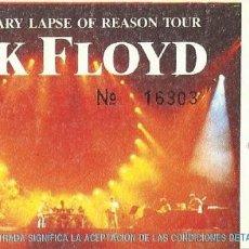 Bilhetes de Concertos: PINK FLOYD. ESTADIO R. C. D. ESPAÑOL. 20 JULIO 1988. THE MOMENTARY LAPSE OF REASON TOUR. Nº 16303.. Lote 286296693