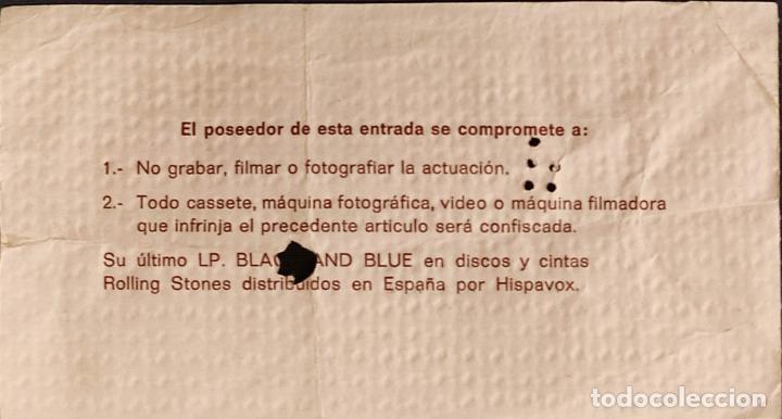 Entradas de Conciertos: ENTRADA ORIGINAL CONCIERTO ROLLING STONES - BARCELONA - PLAZA LAS ARENAS - 1976 - - Foto 2 - 286299608