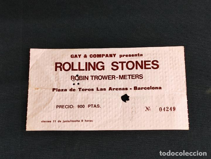 Entradas de Conciertos: ENTRADA ORIGINAL CONCIERTO ROLLING STONES - BARCELONA - PLAZA LAS ARENAS - 1976 - - Foto 3 - 286299608