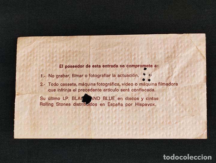 Entradas de Conciertos: ENTRADA ORIGINAL CONCIERTO ROLLING STONES - BARCELONA - PLAZA LAS ARENAS - 1976 - - Foto 4 - 286299608