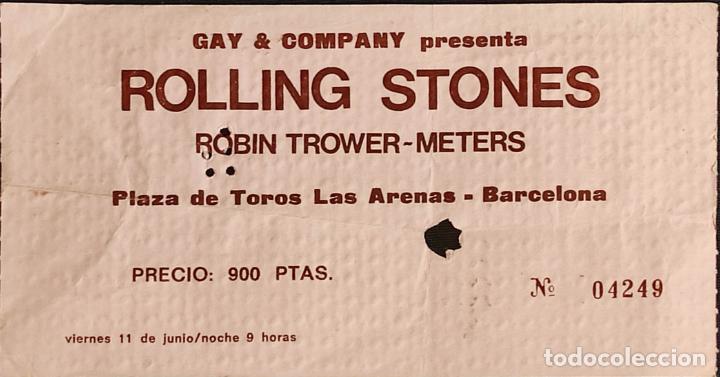 ENTRADA ORIGINAL CONCIERTO ROLLING STONES - BARCELONA - PLAZA LAS ARENAS - 1976 - (Música - Entradas)
