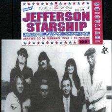 Bilhetes de Concertos: ENTRADA JEFFERSON STARSHIP 23/2/1993. Lote 287331748