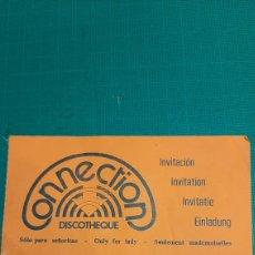 Entradas de Conciertos: ENTRADA DISCOTECA CONNECTION. Lote 287780453