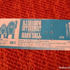 Billets de concerts: DJ SHADOW CUT CHEMIST ENTRADA GIRA TOUR 2008 MADRID 068. Lote 288353028