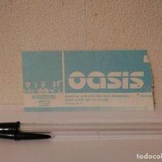 Billets de concerts: ENTRADA ORIGINAL - OASIS 2002 GIRA TOUR TICKET - CAJITA - BARCELONA CONCIERTO. Lote 288414958