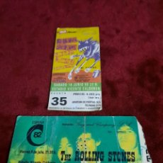 Entradas de Conciertos: ENTRADAS THE ROLLING STONES ESTADIO VICENTE DE CALDERON. Lote 288481823