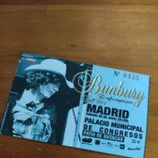 Entradas de Conciertos: ENTRADA BUNBURY. TOUR 2004 EL VIAJE A NINGUNA PARTE. Lote 288546878