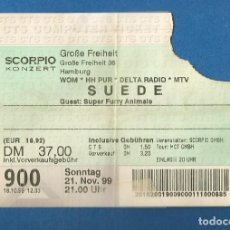 Entradas de Conciertos: ENTRADA CONCIERTO SCORPIO KONZERT - SUEDE - 21 NOVIEMBRE 1999 (ORIGINAL). Lote 289705198