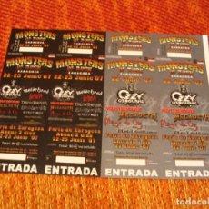 Biglietti di Concerti: OZZY MOTORHEAD MEGADETH 4 ENTRADAS PRUEBAS DEL PROMOTOR ZARAGOZA 07 SIN NUMERAR PROMOTER PROOFS. Lote 290233838
