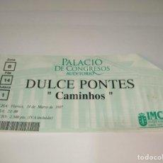 Entradas de Conciertos: 1021- ENTRADA ORIGINAL CONCIERTO DULCE PONTES CAMINHOS PALACIO CONGRESO LA CORUÑA 19/05/1997. Lote 292593993