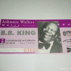 Entradas de Conciertos: 1021- ENTRADA ORIGINAL CONCIERTO B.B.KING COLISEUM LA CORUÑA 5 DE JULIO 1996. Lote 292594573
