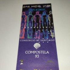 Entradas de Conciertos: 1021- ENTRADA ORIGINAL CONCIERTO JEAN MICHEL JARRE AUDITORIO MONTE DO GOZO SANTIAGO 29/09/1993. Lote 292594938