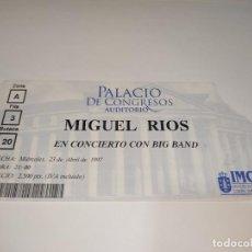 Entradas de Conciertos: 1021- ENTRADA CONCIERTO ORIGINAL MIGUEL RIOS & BIG BAND AUDITORIO LA CORUÑA 23/04/1997. Lote 292596578