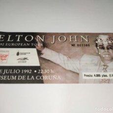 Entradas de Conciertos: 1021- ENTRADA CONCIERTO ORIGINAL ELTON JOHN COLISEUM LA CORUÑA 19 JUNIO 1992. Lote 292597133