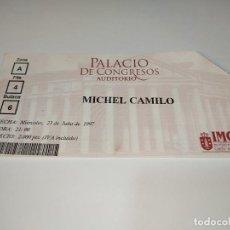 Entradas de Conciertos: 1021-ENTRADA CONCIERTO ORIGINAL MICHEL CAMILO PALACIO DE LOS CONGRESOS CORUÑA 23/07/1997. Lote 292611408
